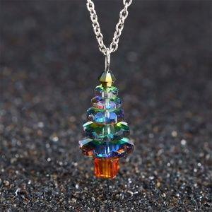 Crystal X-mas Tree Necklace